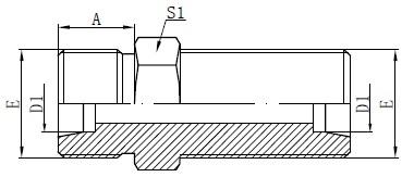 Metrik bulkhead konnektorlari chizish