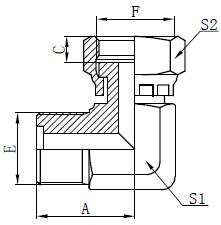 Metric Male O-ring Fittings Drawing